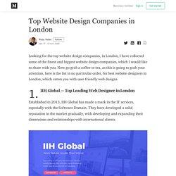 Top Website Design Companies in London - Ruby Yadav - Medium