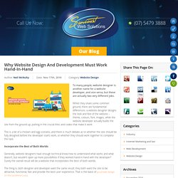 Why Website Design And Development Should Go Hand-In-Hand