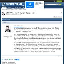 s PHP Website Design still that popular?