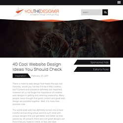 40 Cool Website Design Ideas You Should Check