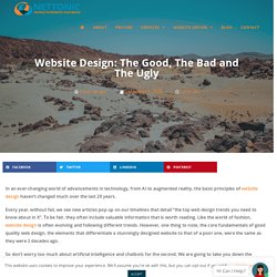 Website Design: The Good, The Bad and The Ugly- NetTonic
