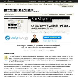 Website Design Tutorial | How to Design a Website - www.garysimon.net (HTTP)