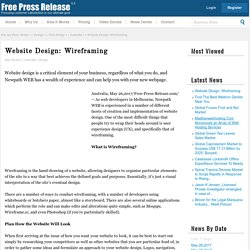 Website Design: Wireframing