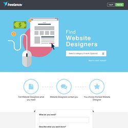 Hire or Find Website Designers - Freelancer.com