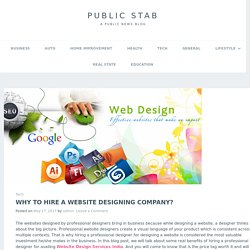 Why to Hire A Website Designing Company?