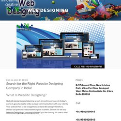 Search for the Website Designing Company!