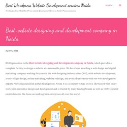 Best website designing and development company in Noida