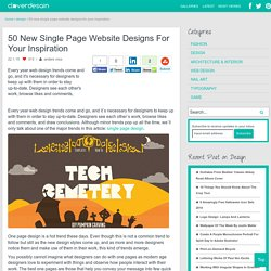 50 New Single Page Website Designs For Your Inspiration