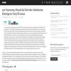 30 Yummy Food & Drinks Website Designs You'll Love