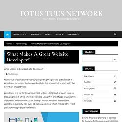 What is WordPress web development?