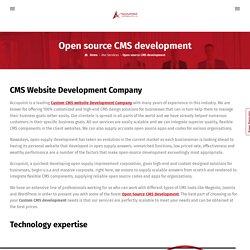 Custom CMS website Development Company, Open Source CMS Development- Accupoint