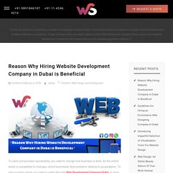 Reason Why Hiring Website Development Company in Dubai is Beneficial