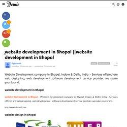 website developmentin Bhopal