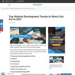 Top Website Development Trends to Watch in 2021
