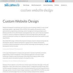 Custom Website Development India, Web Development, Website Builder