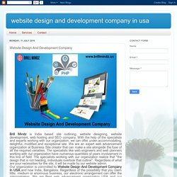 website design and development company in usa: Website Design And Development Company