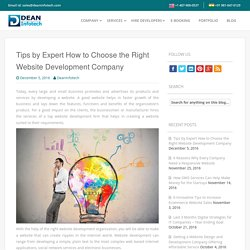 Tips by Expert How to Choose the Right Website Development Company