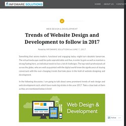 Trends of Website Design and Development to follow in 2017