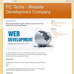 PC Techs - Website Development Company: Web Development Canada: What to Expect from Your Hired Team and Their Process