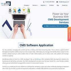 CMS Website Design and Development Company in USA