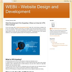 Web Development Firm Expertise: When is it time for VPS Web Hosting?