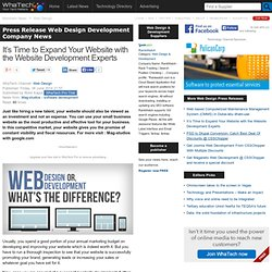 It's Time to Expand Your Website with the Website Development Experts