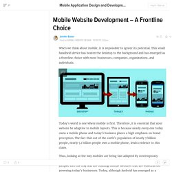 Mobile Website Development – A Frontline Choice