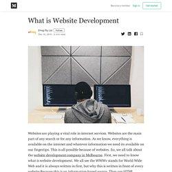 What is Website Development - Efrog Pty Ltd - Medium