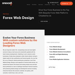 Forex Website Development in India, UAE - Onexcell