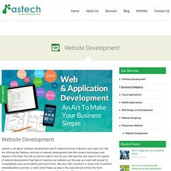 Website Development services in Cape Cod and Boston