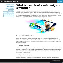 What is the role of a web design in a website? – Web Development Services
