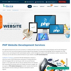 PHP Website Development Company in India