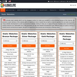 Static Website Design and Development Services Company in USA - Logeli