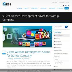 9 Best Website Development Advice for Startup Company
