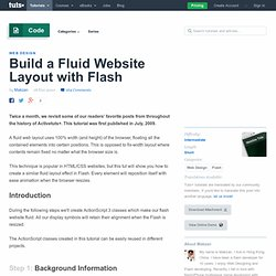 Build a Fluid Website Layout with Flash