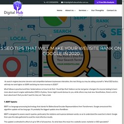 5 SEO Tips That Will Make Your Website Rank On Google In 2020 - Digital Hub Australia