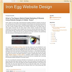 What Is The Reason Behind Digital Marketing Of Brands Using Website Designs In Dallas, Texas?