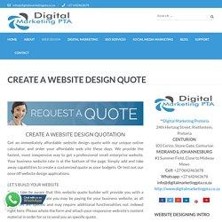 Create A Website Design Quote