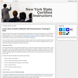 Learn How to Build a Website with Dreamweaver Training in NYC