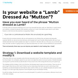 "Is your website a ""Lamb"" Dressed As ""Mutton""? - Techwitty"