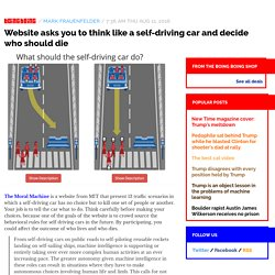 Website asks you to think like a self-driving car and decide who should die / Boing Boing