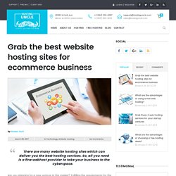 Grab the best website hosting sites for ecommerce business
