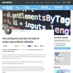 Cut and paste one line of code to make any website editable