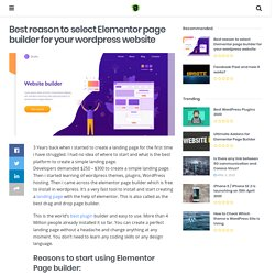 Create website with Elementor Page builder