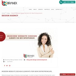 Modern Website Design Elements for New Entrepreneurs – Branex.ca