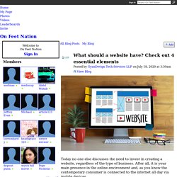 What should a website have? Check out 4 essential elements