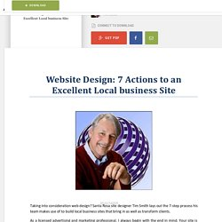 Website Design: 7 Actions to an Excellent Local business Site