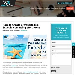 How to Create a Website like Expedia using WordPress