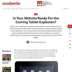 Is Your Website Ready For the Coming Tablet Explosion?