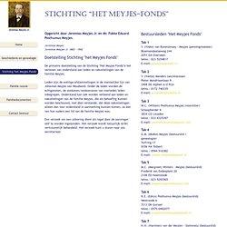Website van de familie Meyjes, Posthumus Meyjes en van Oostrom Meyjes